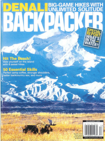 Backpacker Magazine Cover December 2013
