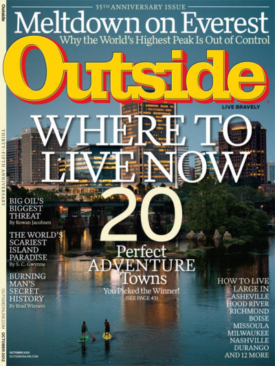 Outside Magazine Cover October 2012
