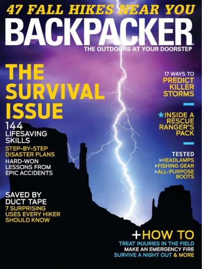 Backpacker Magazine October 2013 Cover